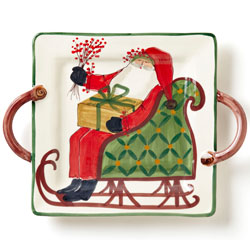 Old St. Nick Square Handled Platter photo