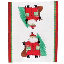 Old St. Nick Dish Towel