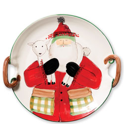 Old St. Nick Handled Round Platter w/ Lamb photo