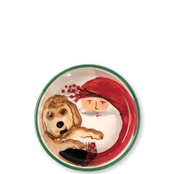 Old St. Nick Small Dog Bowl photo