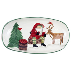 Old St. Nick 2019 Limited Edition Handled Shallow Oval Bowl photo