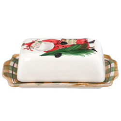 Old St. Nick Covered Butter Dish