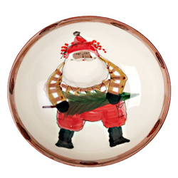 Multicultural Old St. Nick Serving Bowl