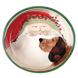 Old St. Nick Dog Bowl