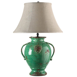 Green Emblem Lamp - New Shade