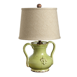 Sm Handled Pistachio Mini Lamp