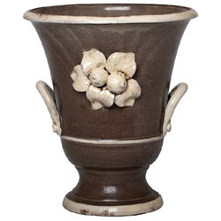 Rustic Garden Large Gray/Cream Vase