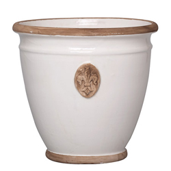 Rustic Garden Cream/Gray Planter